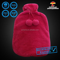 PAH 2500ml hot water bottle with soft plush red cover