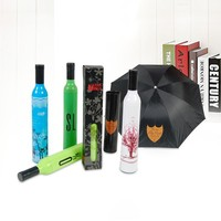 wholesale advertising wine bottle umbrellas with purse