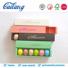 2017 sliding drawer paper box for macarons sweet paper box in recycle material FSC free samples shipping