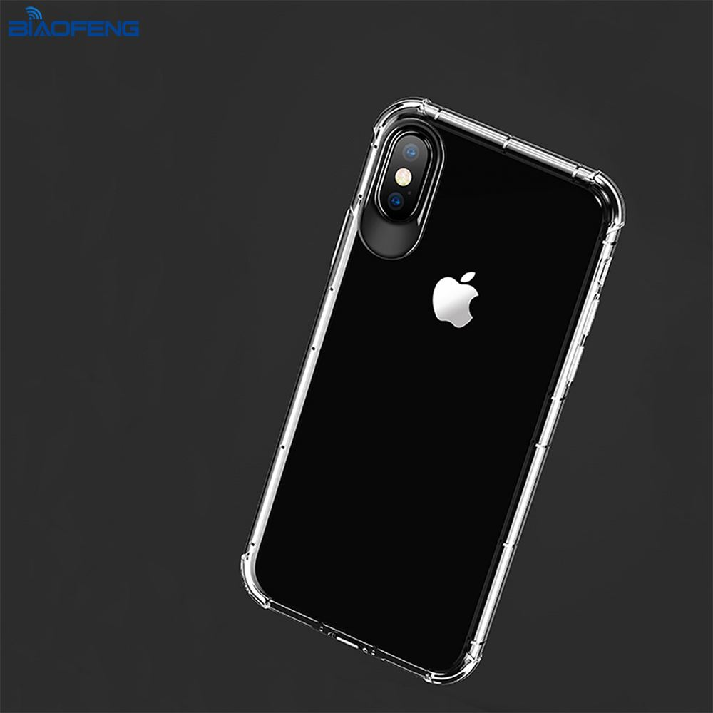 2018 Alibaba China Free Sample Transparent Clear Tpu Mobile Back Cover Cell Phone Case For Iphone X