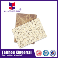 Alucoworld marble pattern finished different aluminium cladding specification aluminium wall cladding