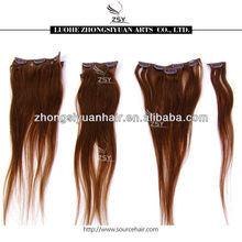ZSY 2014 hot sale high quality non clip hair extensions