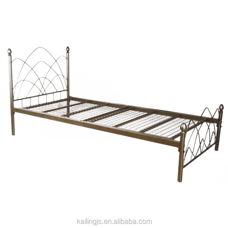 Extreme bed frame, metal bed with adjustable glides, sell well in US/EURO