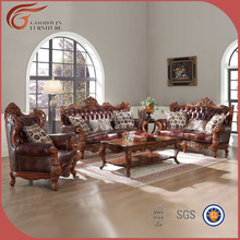 living room <strong>furniture</strong> brown real leather sofa A131