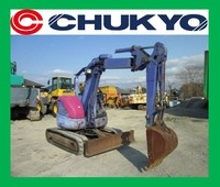 Used Japan Excavator Komatsu For sale PC 30 UU - 3 <SOLD OUT>/ Rubber shoe , Offset boom , Blade