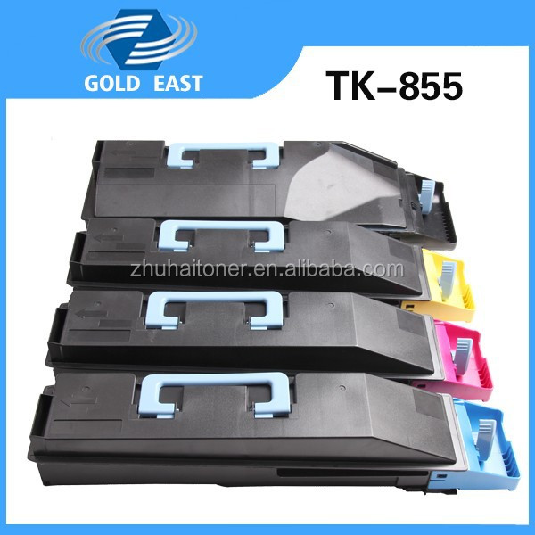 Printer toner manufactuer supply TK-855 color toner cartridges for TASKalfa 400ci/ASKalfa 500ci/TASKalfa 552ci