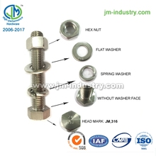 bolt and nut acero inoxidable tuerca y perno
