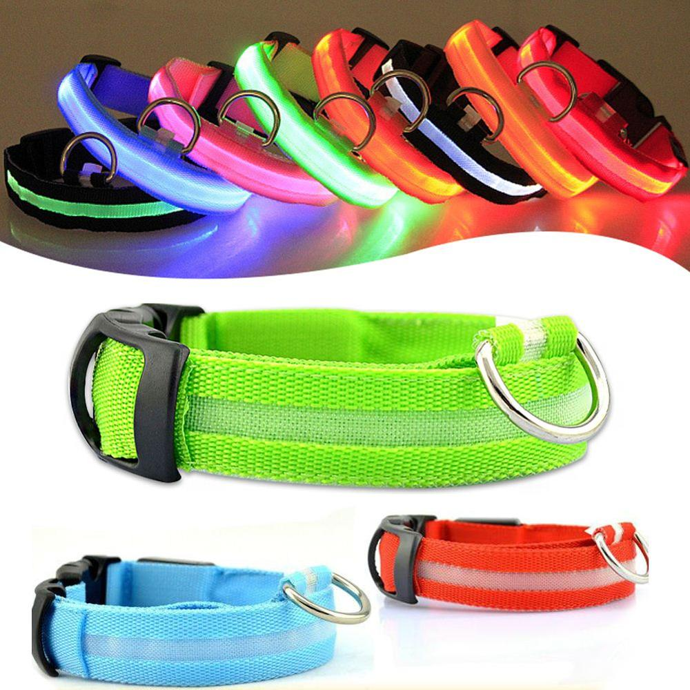 LED Pet Dog Collar Night Safety Flashing Glow Electric Product For Dogs Pet Supplies Collars for Small Dogs Cats USB charging