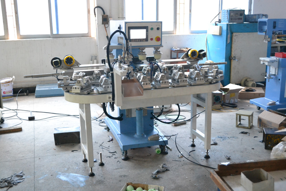 PLC contorl four colors automatic bottles pad printing machine