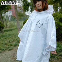 hot sale reusable hooded heavy duty rain poncho for men and women