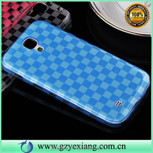 Grid Design TPU Case For Samsung I9500, For Galaxy S4 Ultral Thin Case