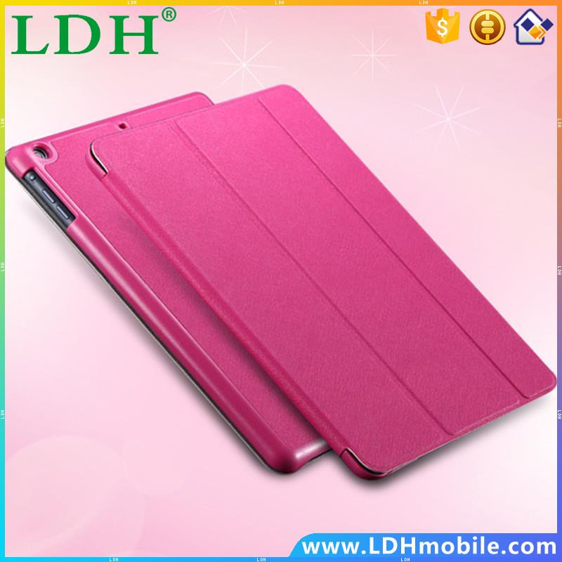Slim Three Fold Stand Fuction Tablets Case For Apple iPad mini 1 2 3 Retina Leather Cross Pattern Protective Shell Accessories