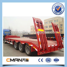 3 axles widely used low bed trailer 40 tons payload heavy duty machine transport