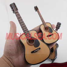 Wooden guitar model decoration Miniature musical instrument gift for kids
