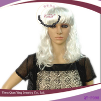 cheap hot sale synthetic silver white wig