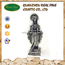 Wholesale plating resin religious mary statue for church decoration