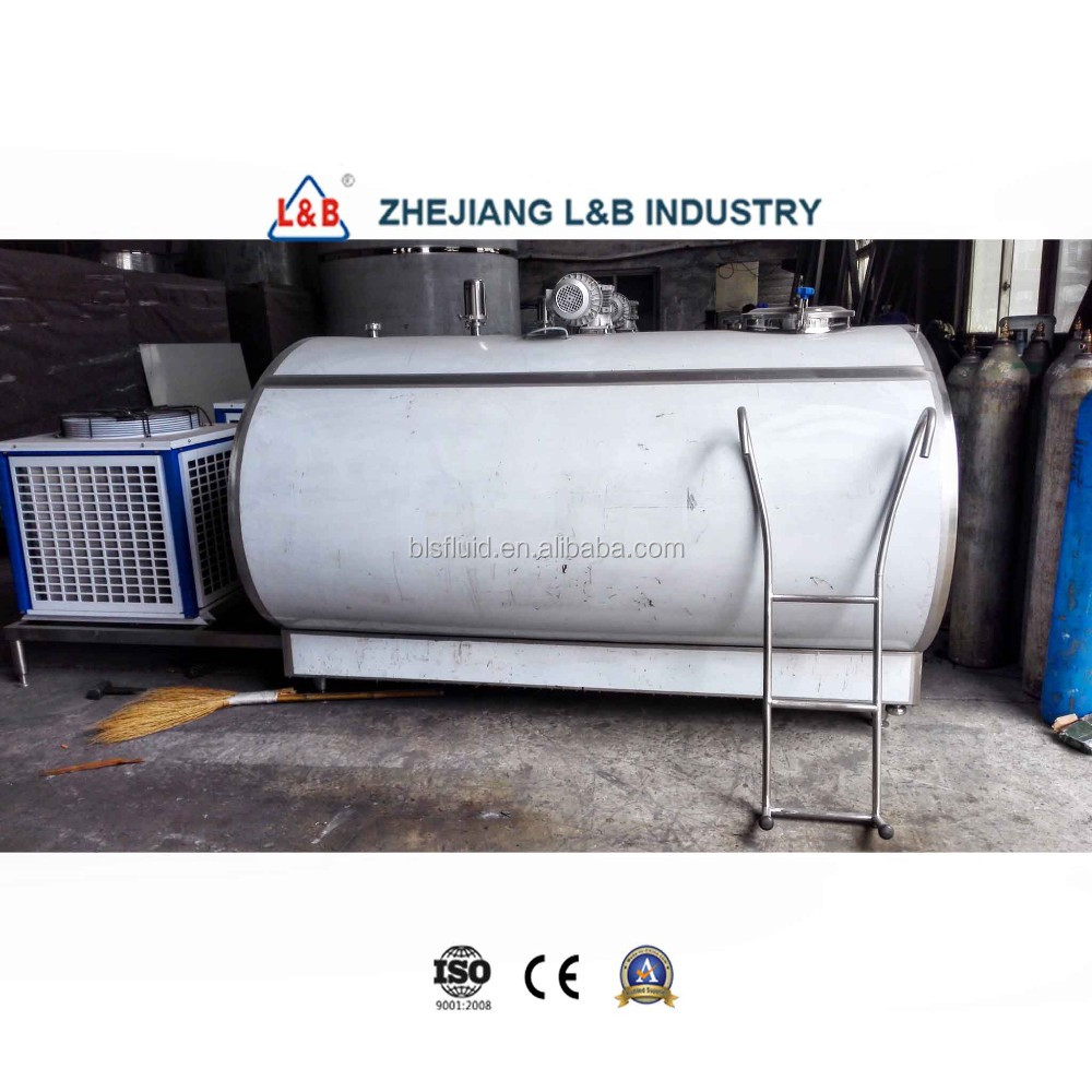 Sanitary Horizon Cow Farm Bulk Milk Cooling Tank