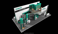 double deck trade show booth design & construction