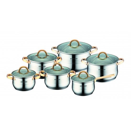 12pcs stainless steel high quality cookware with good price