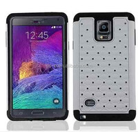 New Arrival Hybrid Gel Rhinestone Bling Armor Defender Cover case for Samsung Galaxy Note 4