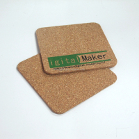 Promotional custom coffee shop polygon shape cork coaster/ pad printing ink cup