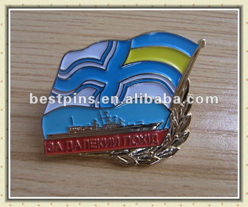 Flag brand soft enamel customised lapel pin