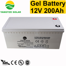 Lead acid gel 200ah 12v deep cycle battery for solar panel