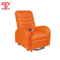 Luxury recliner home theater sofa beds in orange with remote control(8644S)