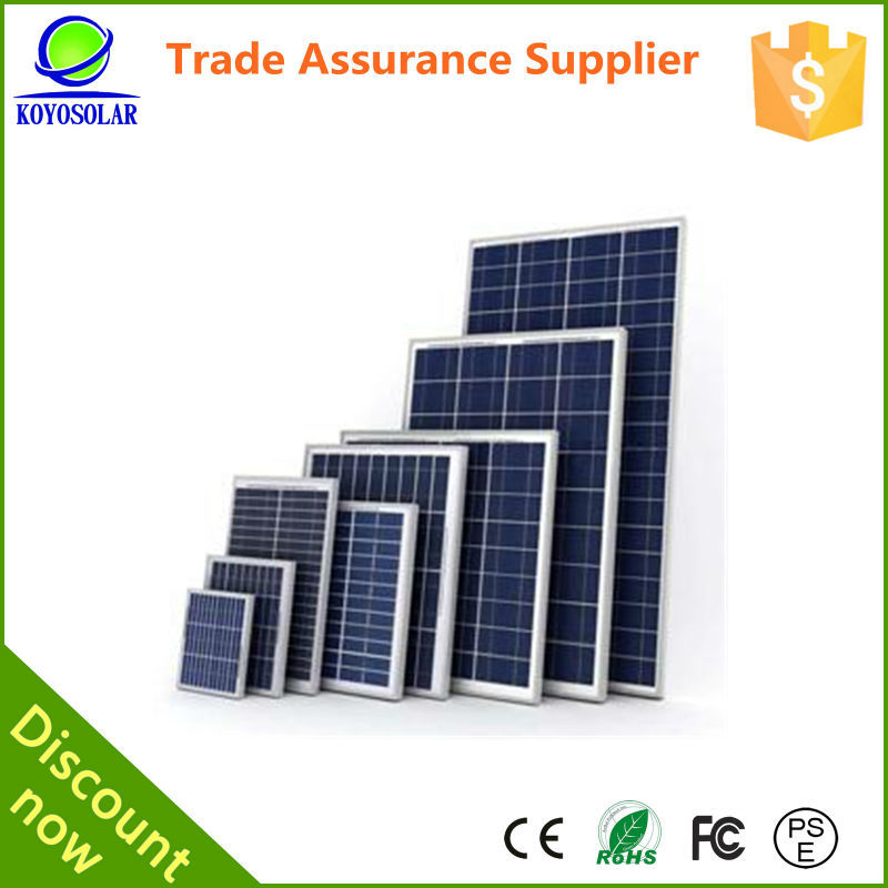 100w poly for home system solar panel production line