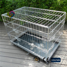 Chrome dog cage with thick folds