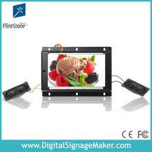 open frame 7 inch lcd metal housing convenience store commercials advertising display