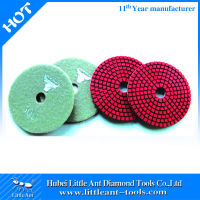 Hot sale 100mm Straight teeth Diamond Polishing Pads for stone cement concrete