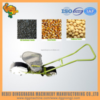 Manual hand push Single row sowing corn beans planting machine