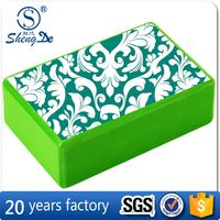 100% eva customized Blue foam block yoga,china block factory,3*6*9inches interlocking foam block