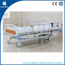 BT-AE012 5 function Adjustable Electric Hospital Beds electronic medical equipment With 10-part Bedboard , Al-alloy Side Rails