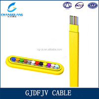 Small diameter and light weight stranded GJDFJV electric flat cable