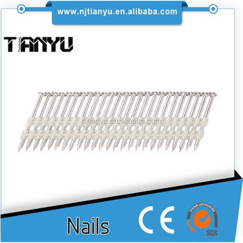 21 Degree Full Round Head Plastic Strip Nails for Framing Nailer