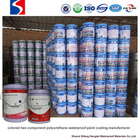 colored two component polyurethane waterproof paint coating manufacturer