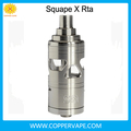 Coppervape Hotsale squape X rta 4ml top filling Single dual coil squape x atomizer in stock