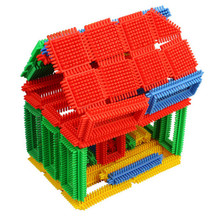 Plastic Kid House Toy/Non-Toxic House Toy Custom Plastic Building Toys Building Blocks Building Bricks Mind Puzzle