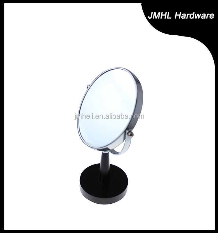 Hotel double sided metal framed magnifying vanity mirror