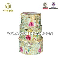 Beautiful candy and cake metal tin cans