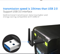 Dual band RTL8812BU 1200M wifi usb dongle with 2dBi antenna