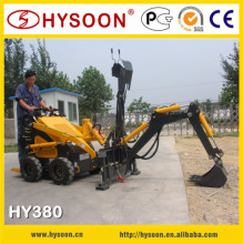 mini type loader backhoe tyre with skid steer attachment