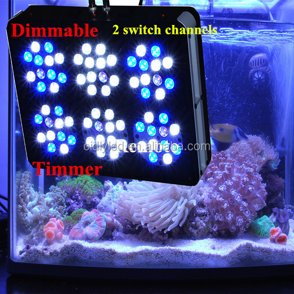 CIDLY 200W aquarium led lights automatic moonlight intelligent led aquarium light for sps lps