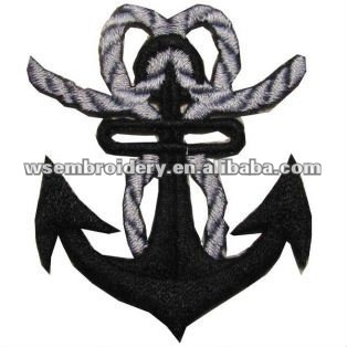 Hook embroidery rope patch for military club clothing