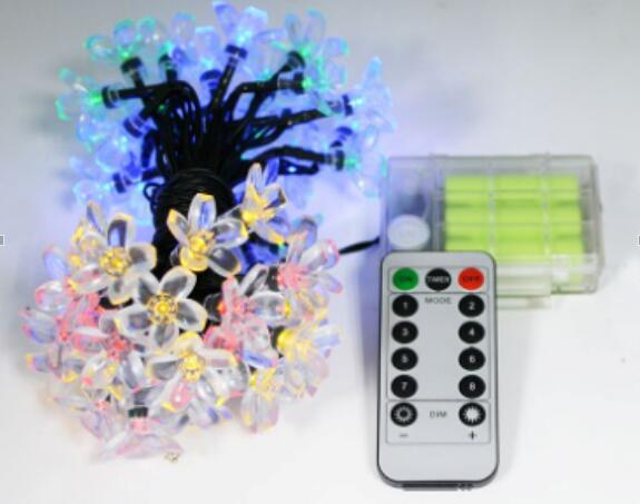 Customize 50 LED Holiday String Lights With Remote Control And Power Supply