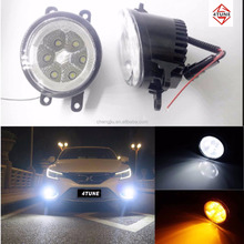 LED 18w Toyota auto spare parts color changing angel eye white red yellow blue led fog light Toyota Tundra/Highlander/Innova/Vio