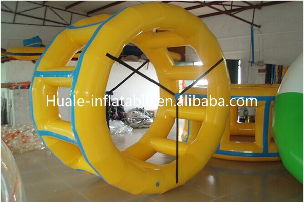 Guangzhou Huale Inflatable water wheel roller water toys for summer water game play