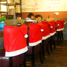 Wholesale Christmas items, Christmas decorations, Christmas hat decorated dining chair covers